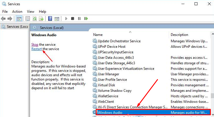3 Solutions On Audio Services Not Responding Windows 10